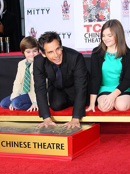 Бен Стиллер с детьми