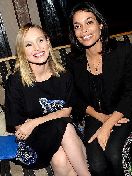CRISS-CROSSED photo | Kristen Bell, Rosario Dawson