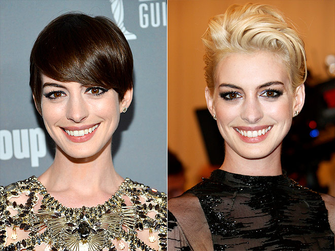 Anne Hathaway Brunette vs. Blonde