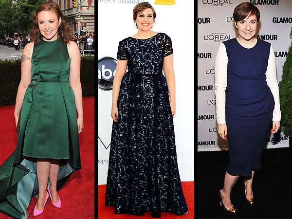 lena dunham 600x450 Lena Dunham Is Grateful for Free Designer Clothes