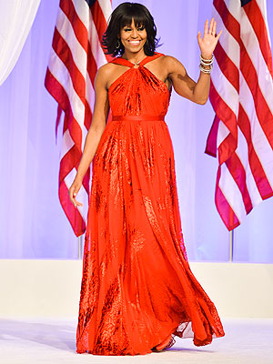 michelle obama 2 300x400 Michelle Obama Wears Jason Wu Again at Inaugural Ball