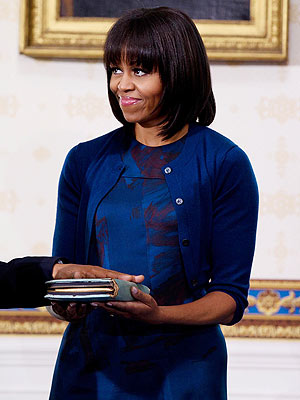 michelle obama 300x400 Chic Clicks: Michelle Obamas Bangin Outfit, Plus: David Beckham Strips Down