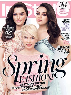 Mila Kunis, Michelle Williams InStyle Cover