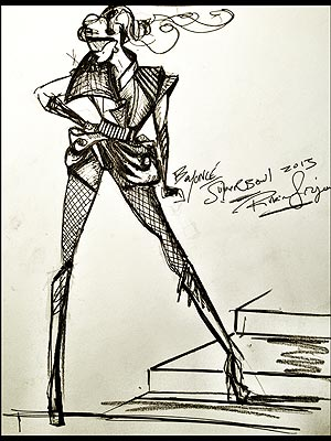 Beyonce Super Bowl Halftime Sketch