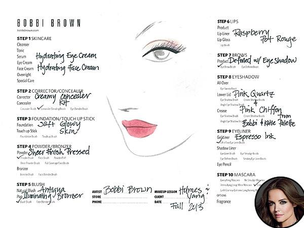 Katie Holmes Bobbi Brown Holmes & Yang Beauty Look