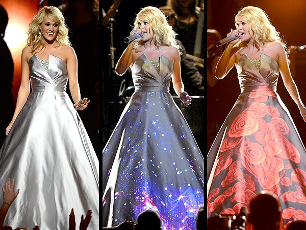 Carrie Underwood Light-Up Grammy Gown