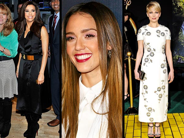 Eva Longoria, Michelle Williams bargains