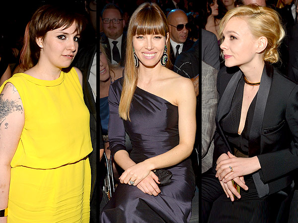 Jessica Biel, Lena Dunham, Carey Mulligan Grammys dates