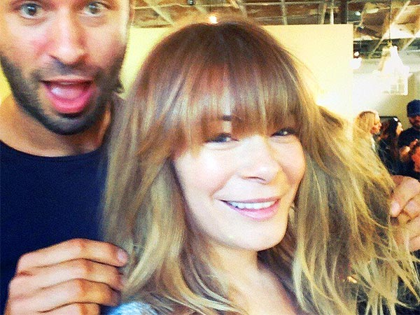 Leann Rimes bangs haircut