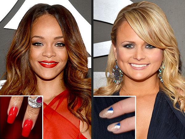 Grammy Nails Rihanna, Miranda Lambert