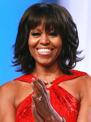 Michelle Obama Bangs Midlife Crisis