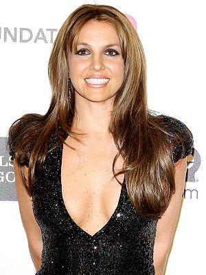 Britney Spears Brunette at Oscars