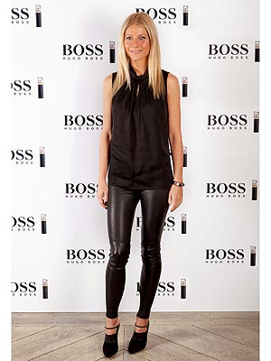Gwyneth Paltrow leather leggings