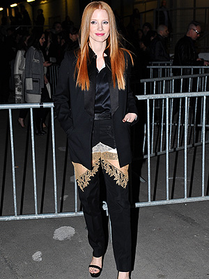 Jessica Chastain Sheer Pants