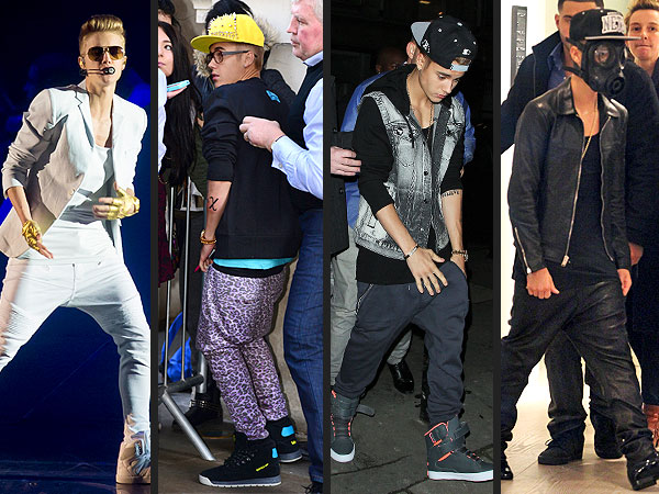 Justin Bieber Drop-Crotch pants