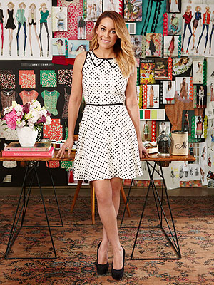 Lauren Conrad polka dot Redbook