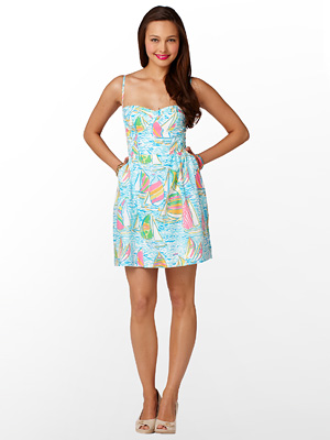 Lilly Pulitzer boat bustier dress