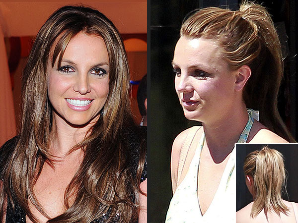 Britney Spears hair color