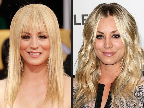 Kaley Cuoco bangs