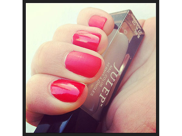 Julep matte top coat manicure