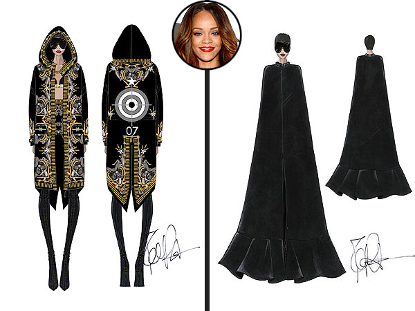 rihanna 600x450 First Look: Rihannas Givenchy by Riccardo Tisci Tour Costumes