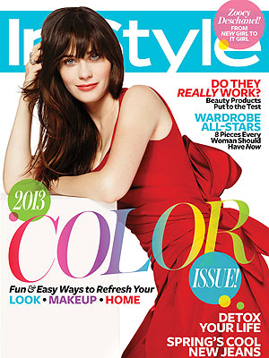 Zooey Deschanel InStyle