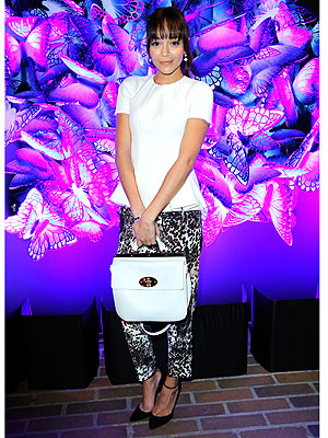 Ashley Madekwe printed pants