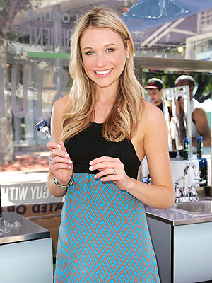 Katrina Bowden Gillette wedding dress