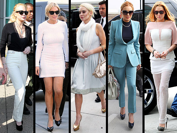 Lindsay Lohan court outfits