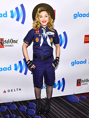 Madonna Boy Scout outfit