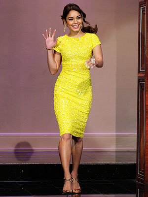 Vanessa Hudgens yellow dress