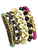 MaliBeads bracelet stack