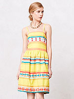 Anthropologie ribbon dress