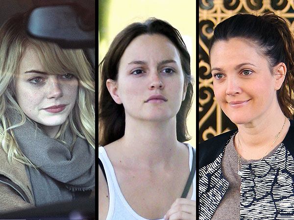 Emma Stone, Leighton MEester without makeup