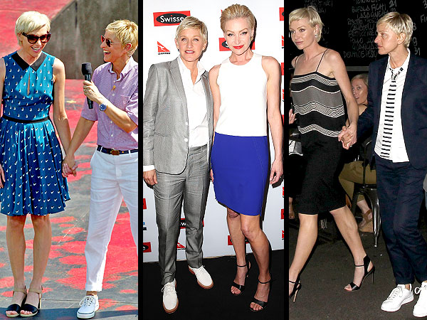ellen degeneres 600x450 Cute Couple Alert: Ellen and Portia's Style Is So In Sync