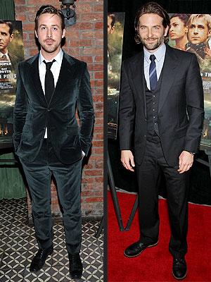 Ryan Gosling, Bradley Cooper suit