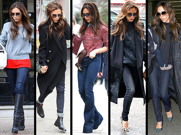 victoria beckham 1 600x450 Victoria Beckhams Shocking Style Addiction: Blue Jeans