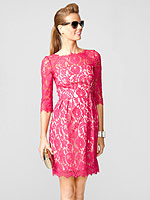 Milly pink lace dress