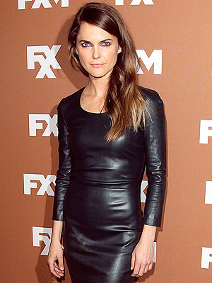 Keri Russell leather dress