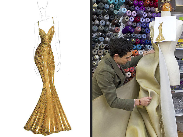 Zac Posen Gold Dress Magnum