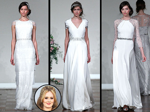 Adele Jenny Packham wedding gown