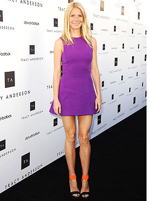 Gwyneth Paltrow purple mini dress