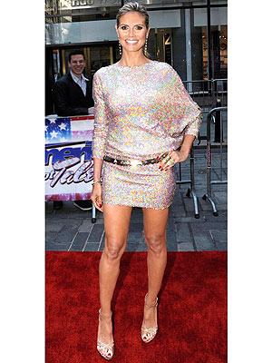 Heidi Klum sparkly dress