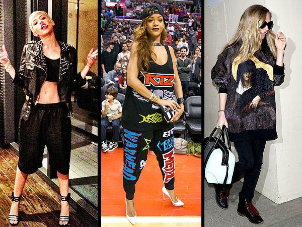 Miley Cyrus menswear, Rihanna menswear