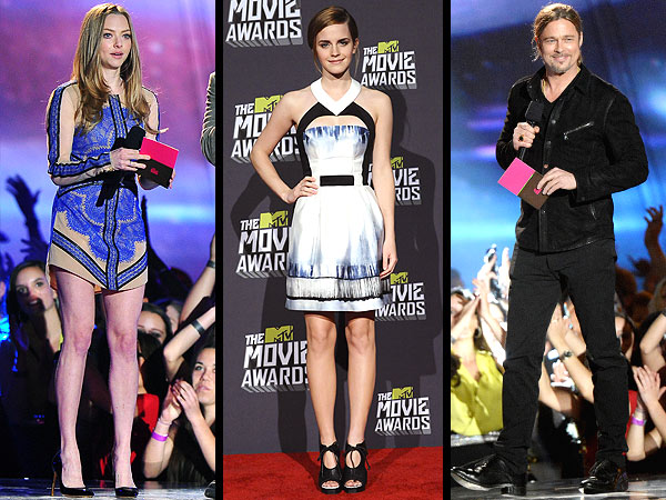 Emma Watson MTV movie awards, Brad Pitt MTV movie awards
