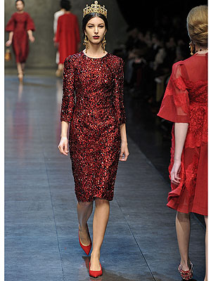 Dolce and Gabbana Fall 2013 Dress