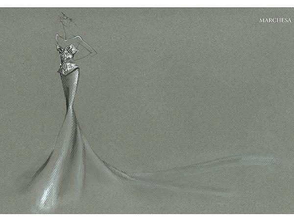 Heidi Klum Met Gala Sketch