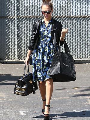 Jessica Alba floral dress