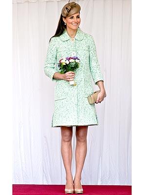 Kate Middleton pregnant, green coat
