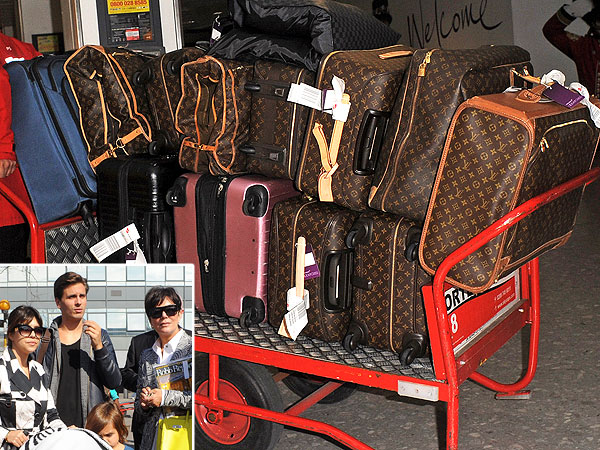 Kardashian Louis Vuitton luggae